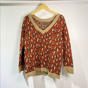 Urban Outfitters Leopard V-neck sweater